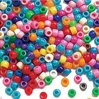 Baker Ross Pack ahorro de cuentas de colores para hacer pulseras, joyas, collages y