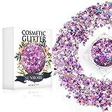 Vari colori Iridescent Cosmetic Glitter Sequin per il corpo del chiodo del viso, brillante trucco Glitter Paillette per il festival di musica Masquerade Halloween Party Ball di Natale - Y1