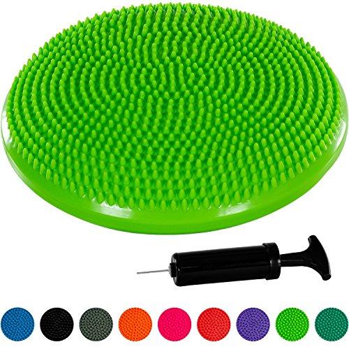 MOVIT Ballsitzkissen »DYNAMIC SEAT« inkl. Pumpe, schadstoffgeprüft und phthalatfrei, TÜV SÜD getestet, 33 cm, grün