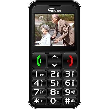 YINGTAI Telefono Cellulari Anziani con Tasti Grandi per Gli Anziani Pulsante SOS per Chiamate di Emergenza