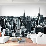 Fototapete New York Grau Vlies Wand Tapete Wohnzimmer Schlafzimmer Büro Flur Dekoration Wandbilder XXL Moderne Wanddeko - 100% MADE IN GERMANY - NY Stadt City Runa Tapeten 9202010c