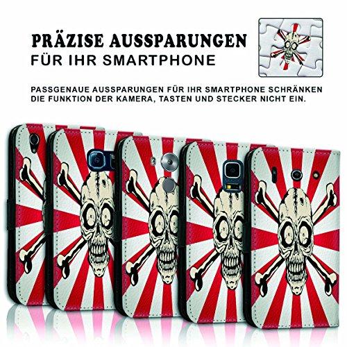 Wallet Book Style Flip Handy Tasche Case Schutz Hülle Schale Motiv Etui für Apple iPhone 6 Plus / 6S Plus - Variante UMV5 Design12 Design 2