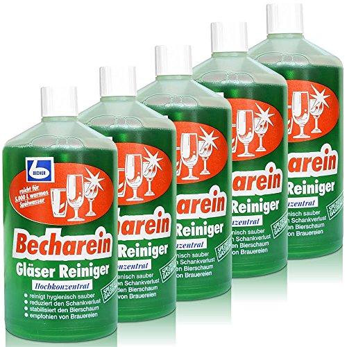 5x Dr. Becher Becharein Gläser Reiniger Hochkonzentrat / 1 Liter