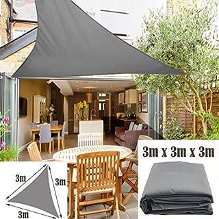 AutoFu Dreieck, 3x 3x 3, Baldachin Sonnenschutz Segel für Garten Terrasse, Party Sonnendach 98% UV-Block