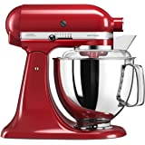 KitchenAid Küchenmaschine 5KSM175 4,8 L Artisan Empire rot, Metall, 36 x 24 x 37