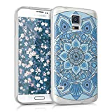 kwmobile Samsung Galaxy S5 / S5 Neo Hülle - Handyhülle für Samsung Galaxy S5 / S5 Neo - Handy Case in Blau Hellblau Weiß