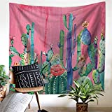 Dremisland Cactus Landscape Tapestry Indian Mandala Wall Hanging Tapestry, Hippie Hippy Tapestries,Cotton Handmade Badsheet,Picnic Beach Sheet, Table Cloth,Decorative Wall Hanging (Pattern 5, L/200x150cm(79x59inch))