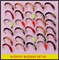 BN X 30 mixed EPOXY BUZZERS trout fly fishing flies SET 90 from BryTec