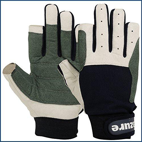 61SOsZvzORL. SS500  - Strong AMARA Navy Blue Sailing Gloves F/F (Medium)