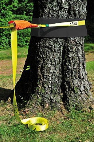 HUDORA Slackline-Set, 15 m lang, 3,8cm breit + Baumschutz - 3