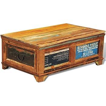 Vidaxl Couchtisch Mit Stauraum Tisch Aufbewahrungstruhe Vintage