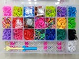#2: MG Rainbow Color DIY Loom Band Kit with 4200 Colourful Rubber Bands .