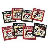 cama24com Piraten Puzzle Schiebepuzzle 8 Stück 4 Motive Piratenparty Mitgebsel Gastgeschenke mit Palandi® Sticker