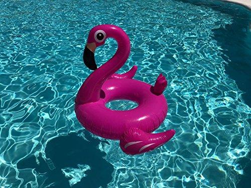Riesiger aufblasbarer Flamingo Schwimmring Luftmatratzen. Aufblasbarer Flamingo Luftmatratze Pool Floß Durch Integrity Co - 2