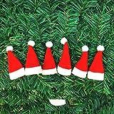 Hemore Weihnachtsmütze Mini Weihnachtsmütze Lutscher Hut Weihnachten Vlies Kleine Hut