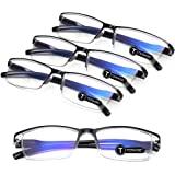 TERAISE 4PCS Mode anti-blauw licht leesbril Kwaliteit lezers Bril voor lezen voor mannen en vrouwen Computer/mobiele telefoon
