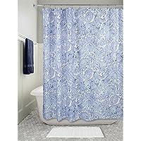 InterDesign-Tenda per doccia in tessuto, motivo cachemire, 180 x 180