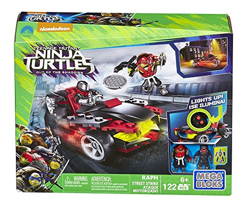 Mattel Mega Bloks DPF80 - Teenage Mutant Ninja Turtles Movie 2 - Raphs Straßen-Fight