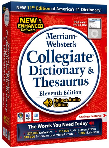 Merriam-Webster's Collegiate Dictionary & Thesaurus 11th Edition (PC/Mac) with Free iPod Dictionary Free Ipod
