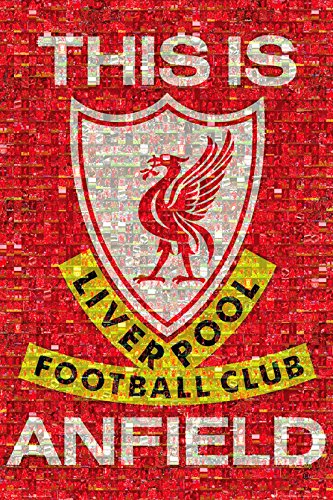 "GB eye ""Liverpool, Mosaic"" Maxi Poster, Multi-Colour, 61 x 91.5 cm"