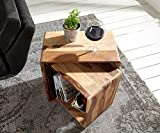 #9: Mp Wood Furniture /Sheesham Wood Nested Cube Bed Side End Table for Living Room | Honey Finish