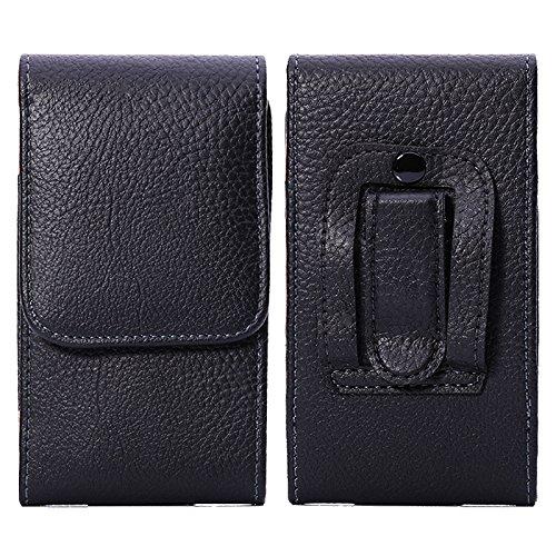 LORDWEY® Funda 5.7-6.0 Inch Universal teléfono móvil cinturón Caso de la Bolsa, Cuero de la PU Caja de la Cartera de la Cintura Smartphone Bolsa con Hebilla Lanzamiento Rápido para Teléfono