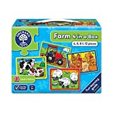 Orchard Toys Farm Four in a Box Jigsaw Puzzle