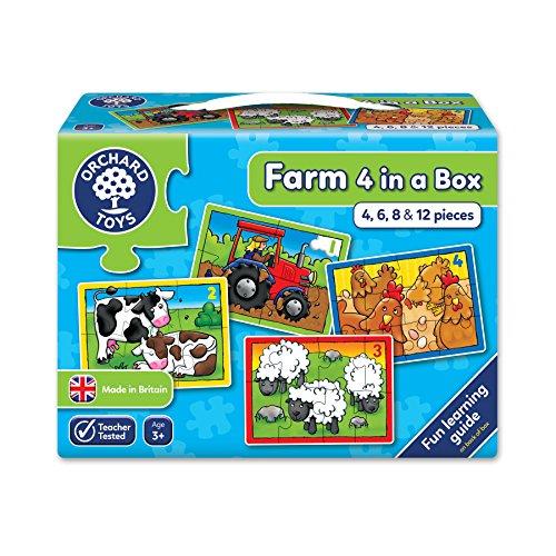 Orchard_Toys - Caja con 4 puzzles, diseño de la granja