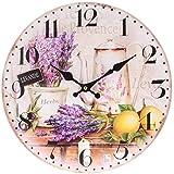 Image of Bino 34002 Provence-Reloj de pared madera, 15 x 10 x 5 cm