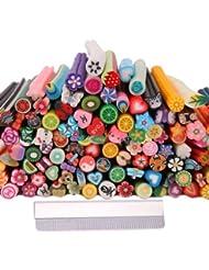 TOOGOO(R) 150 pcs 3D Mignon Designs Art d'ongle Sticks Fimo Cannes Autocollants Tiges Gel Astuce Manucure Decoration + Lame