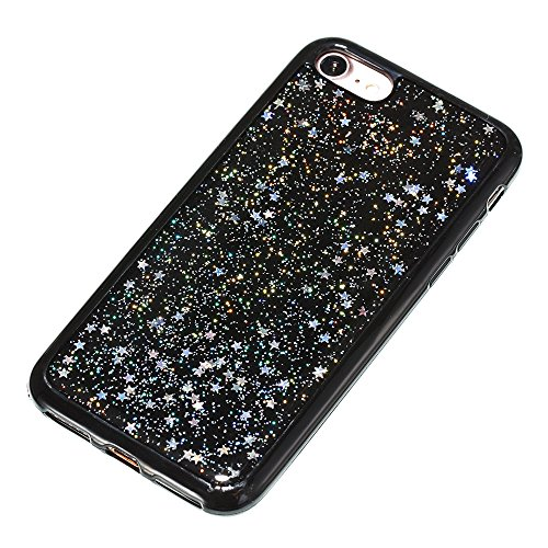 Custodia iphone 7 / iphone 8, iphone 7 / iphone 8 Cover, iphone 7 / iphone 8 Custodia Silicone,Cozy Hut Case Cover per iphone 7 / iphone 8, Shiny Sparkly Bling Bling Glitter Conchiglia Caso Guscio Sot Cielo dargento