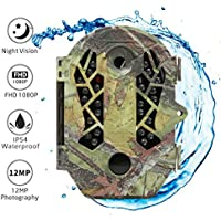 "The perseids Trail Huting cámara, 1080p 2.0 ""LCD juego & caza cámara con actualización de 850 nm IR LED, visión nocturna hasta 65 ft/20 m IP54 Spray diseño de protección de agua"