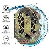 """The perseids Wildkamera Fotofalle 1080P Full HD 12MP Jagdkamera Weitwinkel Vision Infrarote 20m Nachtsicht Tierkamera Wasserdichte IP66 Überwachungskamera mit 2.4"""" LCD Display E3"""