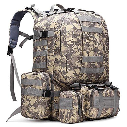 Groß, wasserdicht Military Army Patrol MOLLE Assault Pack Tactical Rucksack Tasche für Wandern Camping, 60l ACU