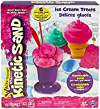 Kinetic Sand Toy Ice Cream Treats Playset - Includes 6 Tools and 283 Grams of Squeezable Pink Treats