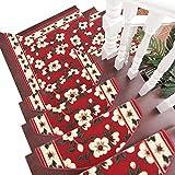 Unbekannt YXX- Teppich-Matten-Feste Holztreppen-Kundenspezifische Treppen-Tritt-Auflagen-Hauptkleber-Freier Rutschfester Teppich (Farbe : 10 Piece, größe : 80 * 24 * 3cm)