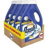 Dash Detersivo Liquido Lavatrice, 100 Lavaggi (4 x 25), Bicarbonato con Azione Igienizzante, Maxi Formato, Pulizia…
