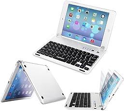 Arteck iPad Mini 4 Tastatur, QWERTZ Apple iPad Bluetooth Folio Tastaturabdeckung mit eingebautem Ständer für Apple iPad Mini 4 mit 130 Grad Verstellbarer Drehung