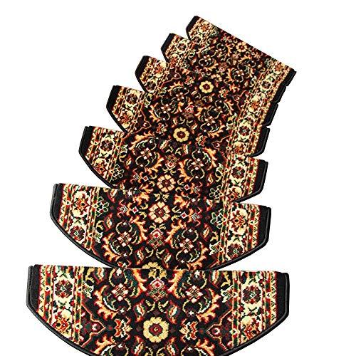 Tappeto Tappeto Scala, Tappeti Antiscivolo per Casa in Legno Massello Liscio, Stuoie Autoadesive Senza Colla (Colore : Set of 3, Dimensioni : 80x24+3cm)