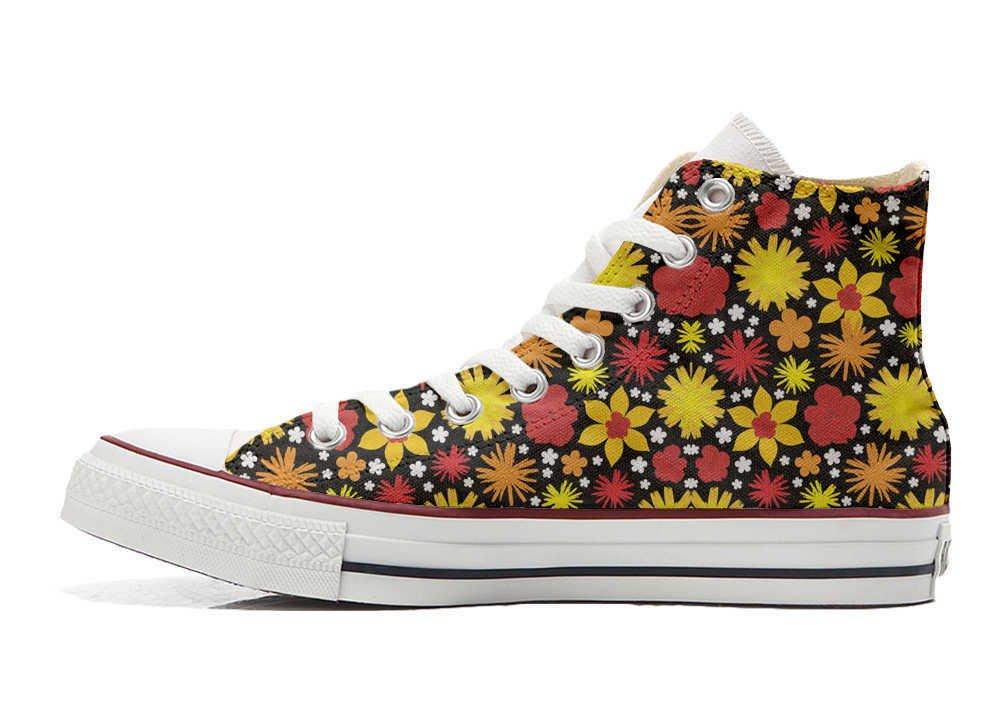 Converse Personalizados All Star Customized – Zapatos Personalizados (Producto Artesano) Hot Colore Paisley