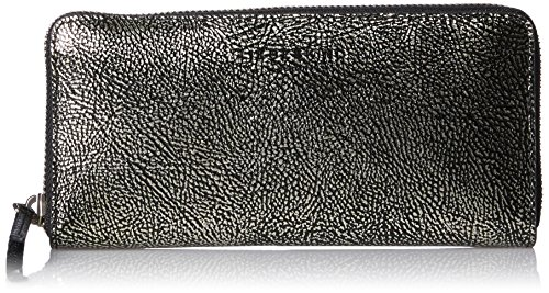 Liebeskind Berlin Damen Sallyw7 Zipper Geldbörse, Silber (Silver), 3x10x19 cm
