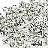 Bastelset Metallperlen Mix 131 St. Metall Beads Perlen silbern antik -293