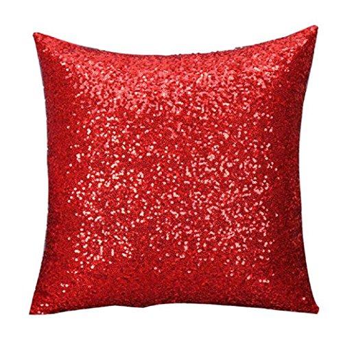 Fami Solido colore Glitter Paillettes tiro del cuscino di caso Cafe per la casa federe L