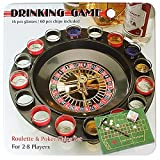 #5: Jonquin Shot Glass Roulette Drinking Game Set with Poker Chips in Tin Case