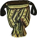 Wayuu-Mochila-Sac-pour-femme--porter--lpaule-multicolore-multicolore-noir-noirjaune