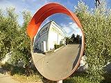 JCM-100o Convesso specchio infrangibile traffico, diametro 100 cm, per la sicurezza stradale e la sicurezza negozio con staffa di fissaggio regolabile per palo 76 mm