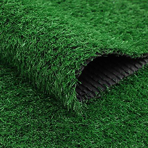 YEYE Synthetische High-Density Kunstrasen,20mm Mit Entwässerungsbohrungen Pet Turf Für Indoor Outdoor Realistische Turf Mat Dekoration-grün 200x500cm(79x197inch)