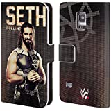 Official WWE Seth Rollins Superstars Leather Book Wallet Case Cover For Samsung Galaxy S5 mini
