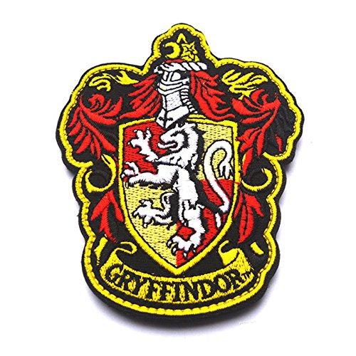 Preisvergleich Produktbild Oyster-Patch Harry Potter,  Hogwarts,  Gryffindor / Hufflepuff / Ravenclaw / Slytherin-Haken und Loop,  Gryffindor