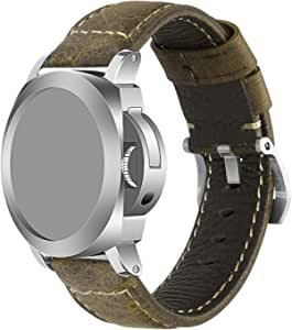 iStrap Cinturino orologio 22mm 24mm 26mm Cinturino orologio militare vintage cinturino cinturino per fascia PANERAI LUMINOR 44 uomo - Marrone